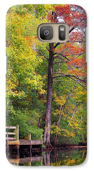 Galaxy Case featuring the photograph Autumn Along Brices Creek by Bob Decker