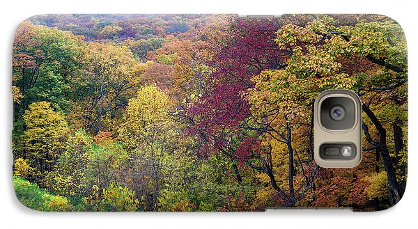 Galaxy Case featuring the photograph Autumn Arrives In Brown County - D010020 by Daniel Dempster
