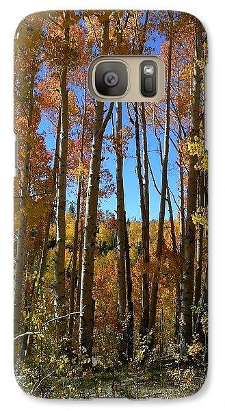 Galaxy Case featuring the photograph Autumn Aspen Grove Dixie National Forest Utah by Deborah Moen