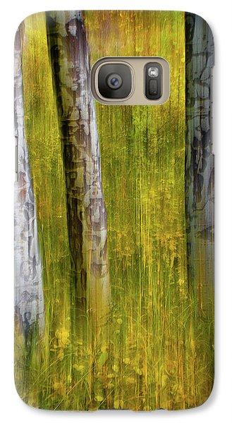Galaxy Case featuring the photograph Autumn Aspen Recollections by John De Bord