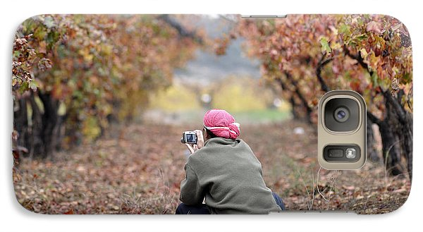 Galaxy Case featuring the photograph Autumn At Lachish Vineyards 1 by Dubi Roman