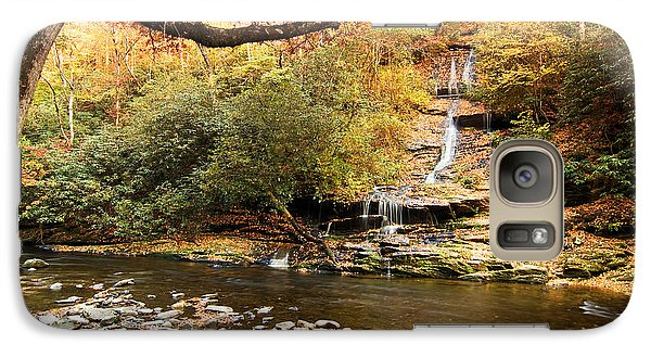 Galaxy Case featuring the photograph Autumn At Tom Branch Falls  by Bob Decker