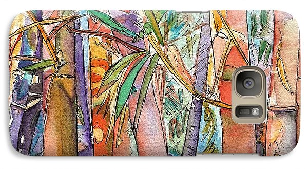 Galaxy Case featuring the painting Autumn Bamboo by Marionette Taboniar