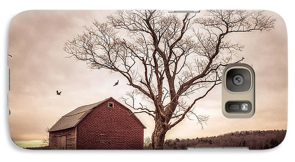 Galaxy Case featuring the photograph Autumn Barn And Tree by Gary Heller