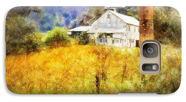 Galaxy Case featuring the digital art Autumn Barn In The Morning by Francesa Miller