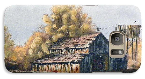 Galaxy Case featuring the painting Autumn Barnyard by Sherril Porter