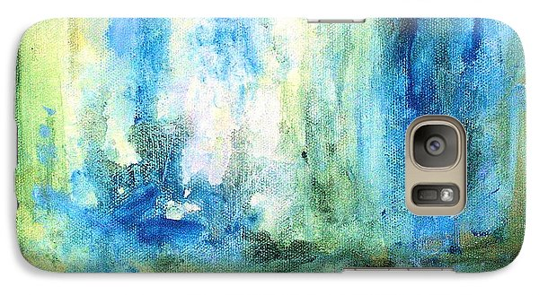 Galaxy Case featuring the painting Spring Rain  by Laurie Rohner
