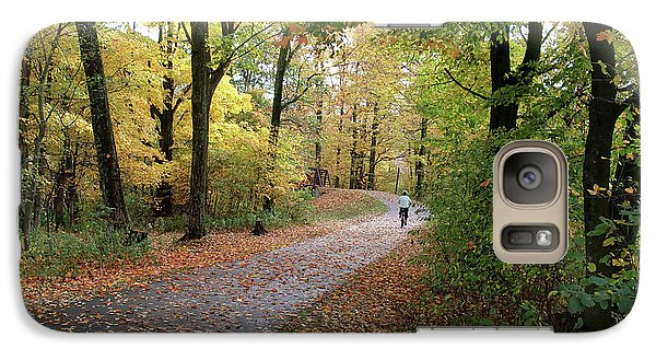 Galaxy Case featuring the photograph Autumn Bicycling by Felipe Adan Lerma