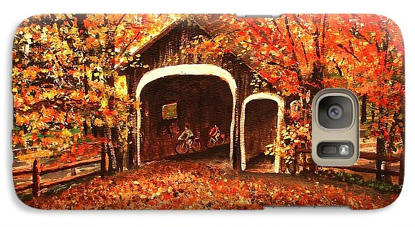 Galaxy Case featuring the painting Autumn Bike Ride by Patricia L Davidson