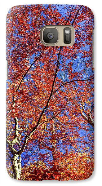 Galaxy Case featuring the photograph Autumn Blaze by Karen Wiles