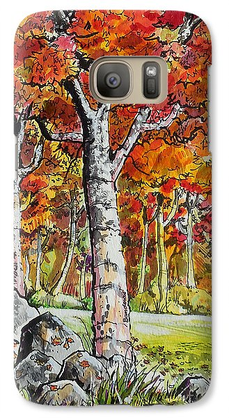 Galaxy Case featuring the painting Autumn Bloom by Terry Banderas