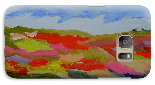 Galaxy Case featuring the painting Autumn Blueberry Hill by Francine Frank