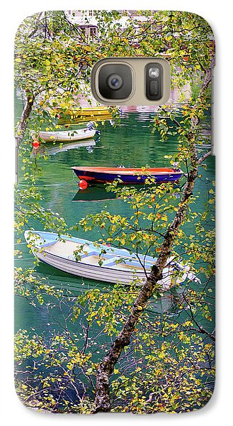 Galaxy Case featuring the photograph Autumn. Boats by Dmytro Korol