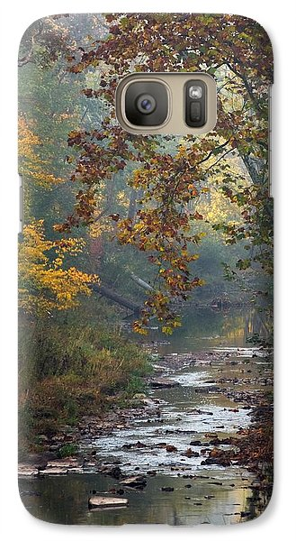 Galaxy Case featuring the photograph Autumn By The Creek by Elsa Marie Santoro