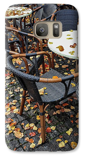 Galaxy Case featuring the photograph Autumn Cafe by Elena Elisseeva