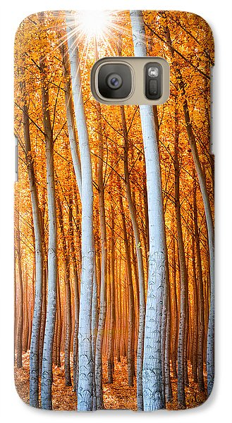 Galaxy Case featuring the photograph Autumn Canopy Burst by Dan Mihai