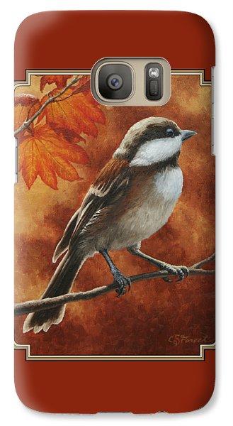 Autumn Chickadee Galaxy S7 Case