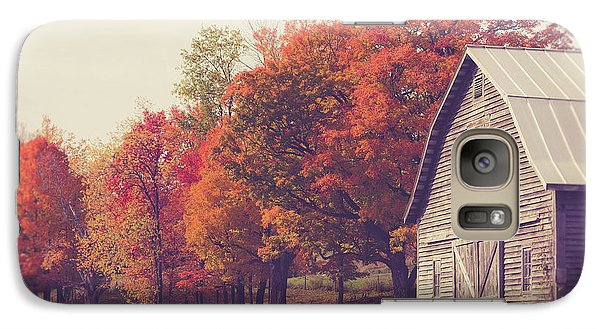 Autumn Color On The Old Farm Galaxy S7 Case by Edward Fielding