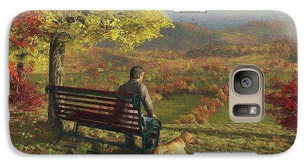Galaxy Case featuring the digital art Autumn Companions by Jayne Wilson