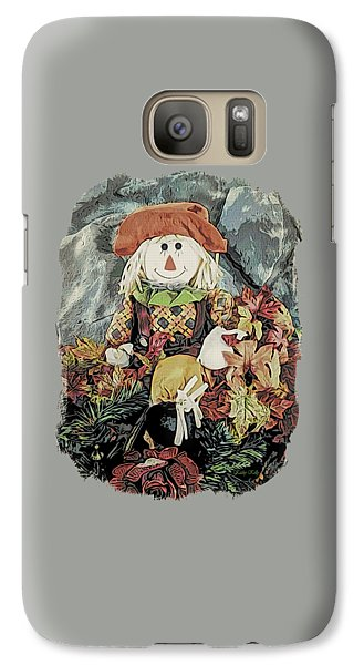 Galaxy Case featuring the digital art Autumn Country Scarecrow by Kathy Kelly