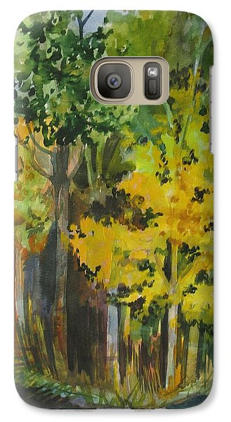 Galaxy Case featuring the painting Autumn Day by Anna  Duyunova