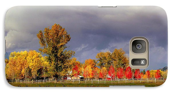 Galaxy Case featuring the digital art Autumn Day by Irina Hays