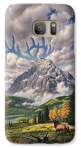 Woodpecker Galaxy S7 Case - Autumn Echos by Jerry LoFaro
