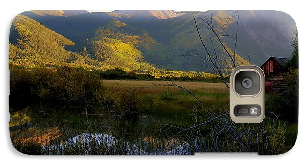 Galaxy Case featuring the photograph Autumn Evening by Karen Shackles