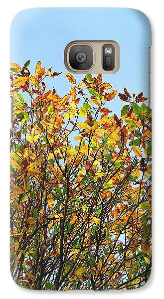 Galaxy Case featuring the photograph Autumn Flames - Original by Rebecca Harman