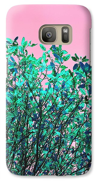 Galaxy Case featuring the photograph Autumn Flames - Pink by Rebecca Harman
