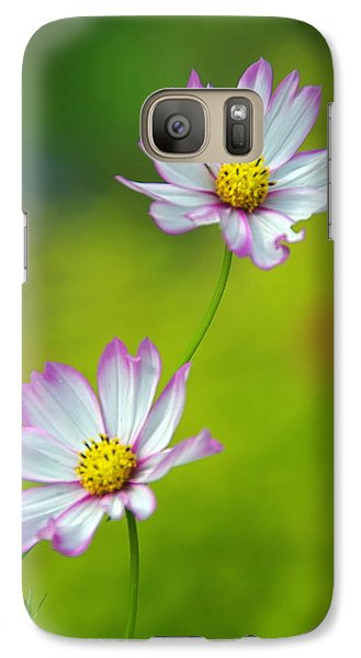 Galaxy Case featuring the photograph Autumn Flowers by Byron Varvarigos