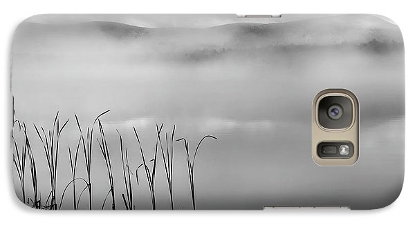 Galaxy S7 Case featuring the photograph Autumn Fog Black And White Square by Bill Wakeley