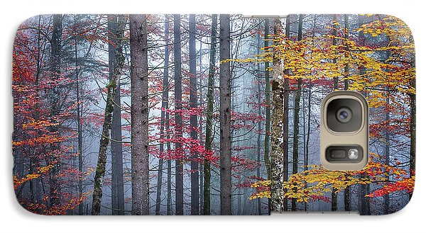 Galaxy Case featuring the photograph Autumn Forest In Fog by Elena Elisseeva