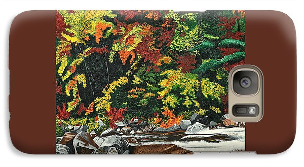 Galaxy Case featuring the painting Autumn Frost by Donna Blossom