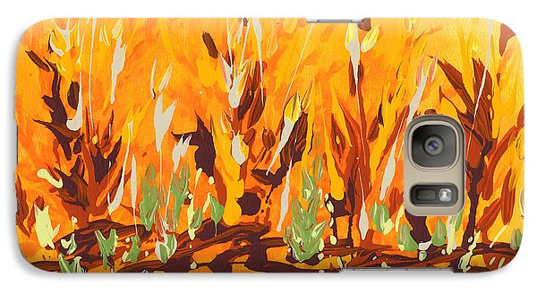 Galaxy Case featuring the painting Autumn Garden by Holly Carmichael