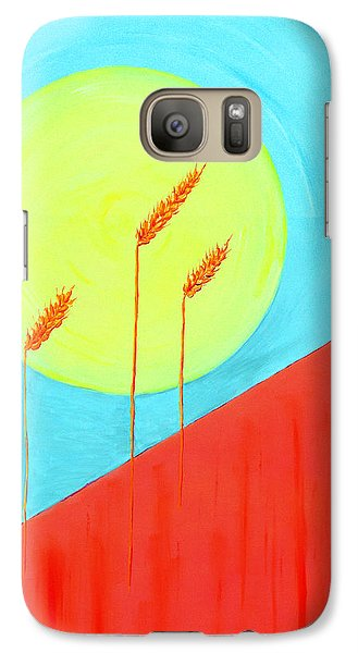 Galaxy Case featuring the painting Autumn Harvest by J R Seymour