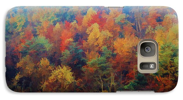 Galaxy Case featuring the photograph Autumn Hill Aglow by Diane Alexander