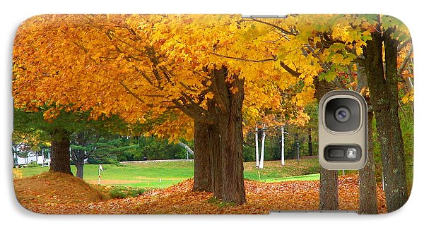 Galaxy Case featuring the photograph Autumn In Maine by Jan Cipolla