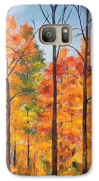Galaxy Case featuring the painting Autumn In South Wales Ny by Ellen Canfield