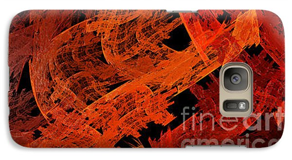 Galaxy Case featuring the digital art Autumn In Space Abstract Pano 1 by Andee Design