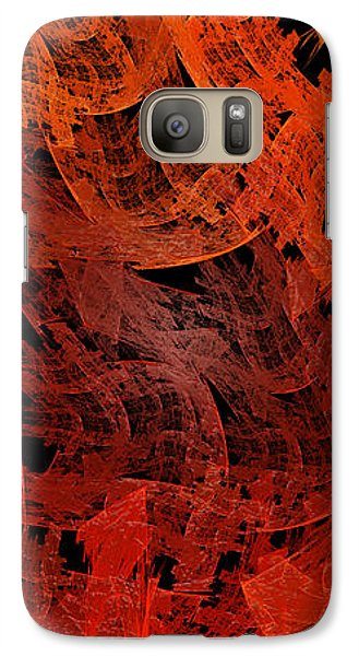 Galaxy Case featuring the digital art Autumn In Space Abstract Pano 2 by Andee Design