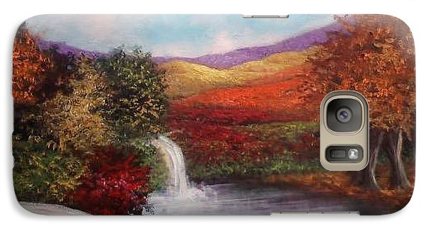 Galaxy Case featuring the painting Autumn In The Garden Of Eden by Randol Burns