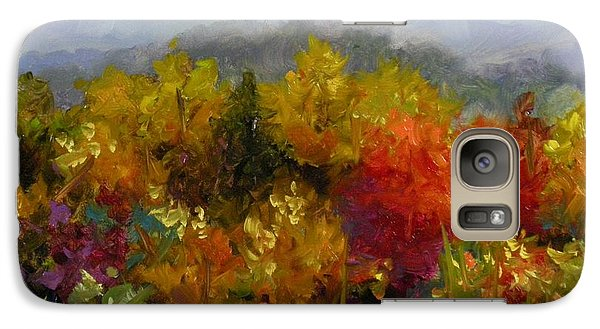 Galaxy Case featuring the painting Autumn Jewels by Chris Brandley
