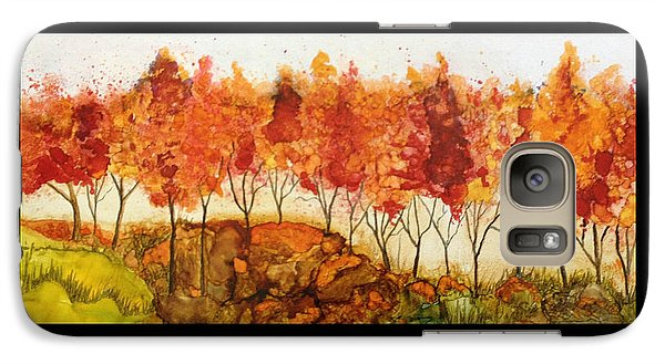 Galaxy Case featuring the painting Autumn Joy by Suzanne Canner