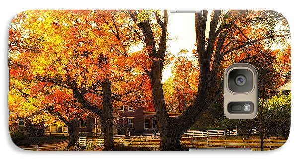 Galaxy Case featuring the photograph Autumn Lane by Robert Clifford