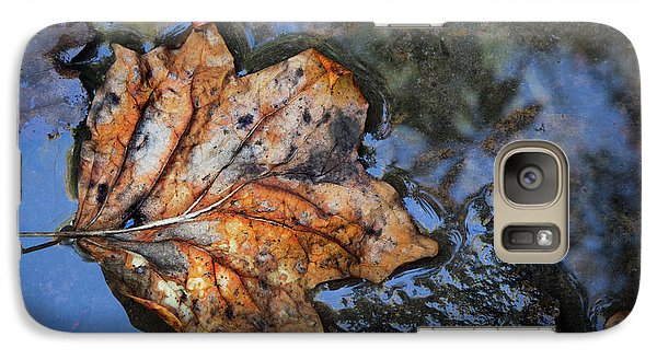 Galaxy Case featuring the photograph Autumn Leaf by Debra and Dave Vanderlaan