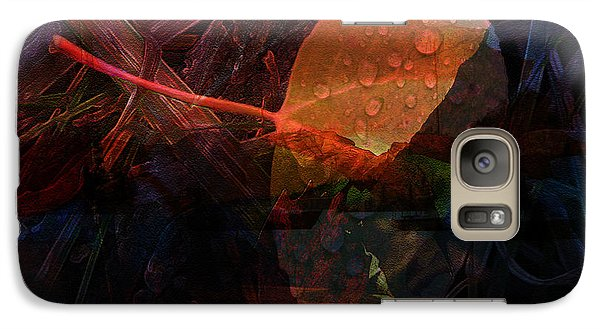 Galaxy Case featuring the digital art Autumn Leaf by Stuart Turnbull