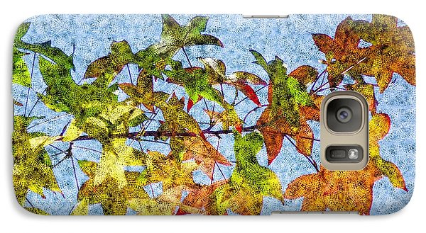 Galaxy Case featuring the photograph Autumn Leaves 2 by Jean Bernard Roussilhe