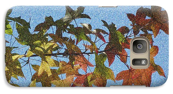 Galaxy Case featuring the photograph Autumn Leaves 3 by Jean Bernard Roussilhe