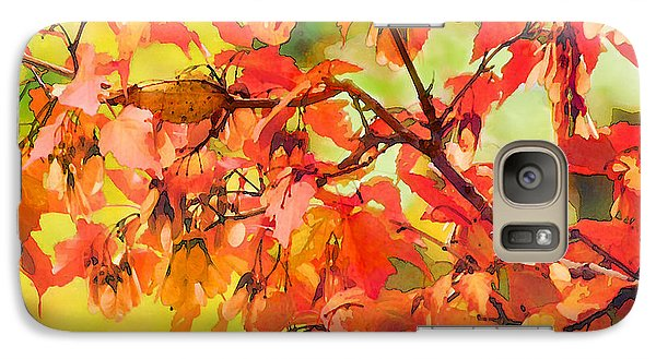 Galaxy Case featuring the digital art Autumn Leaves by Christina Lihani